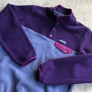 Patagonia Snap T Medium Purple Fleece Pullover